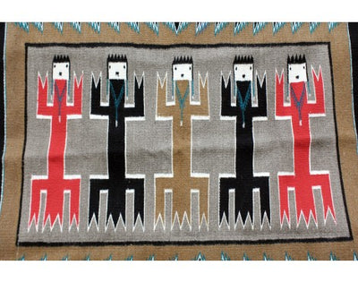 Load image into Gallery viewer, Anna Grey, Yei Bi Chi Rug, Holy People, Navajo Handwoven, 36 in x 48 in