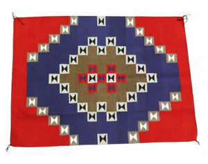"Nellie Deschiney, Navajo Chief Blanket, Handwoven, 51"" x 69.5"""