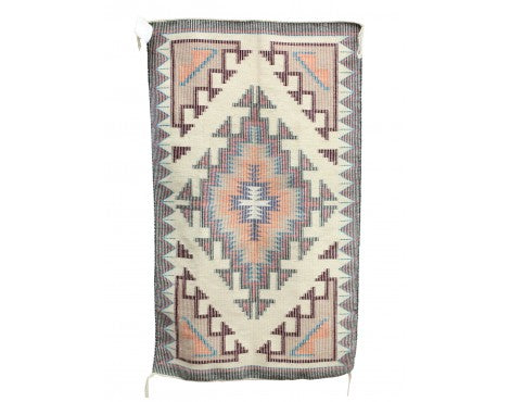 Marie Yazzie, New Lands Raised Outline Rug, Navajo, 48