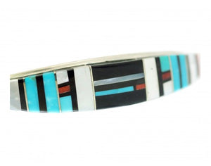 Erma Eustace, Raised Inlay Bracelet, Spiny Oyster, Shell, Turquoise, Jet