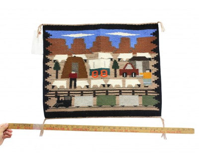 "Load image into Gallery viewer, Joann Begay, Navajo Pictorial, Handwoven, 23"" x 19"""