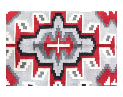 "Load image into Gallery viewer, Evelyn Woods, Klagetoh, Navajo Handwoven, 47"" x 74"""
