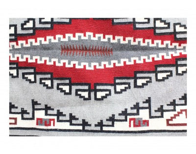 "Load image into Gallery viewer, Nasbeh Goldtooth, Klagetoh, Navajo Handwoven, 40"" x 66"""