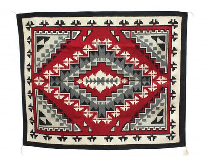 "Load image into Gallery viewer, Rosemary Sagg, Ganado Red, Navajo Handwoven, 51"" x 60"""