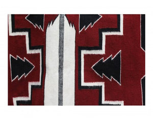 "Donald Yazzie, Navajo Feather Pictorial, Handwovn, 38"" x 57"""