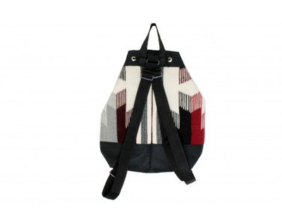 Load image into Gallery viewer, Gallup Throw Backpack, Woven Rug, Navajo Made, Drawstring 6