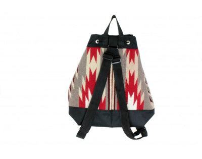 Load image into Gallery viewer, Gallup Throw Backpack, Woven Rug, Navajo Made, Drawstring 4