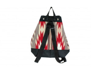 Gallup Throw Backpack, Woven Rug, Navajo Made, Drawstring 4