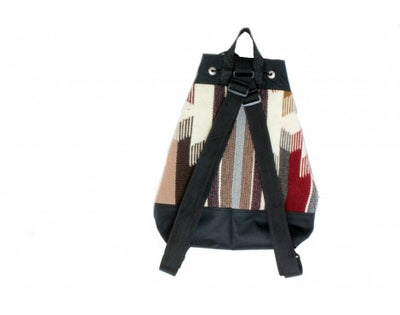 Load image into Gallery viewer, Gallup Throw Backpack, Woven Rug, Navajo Made, Drawstring 2