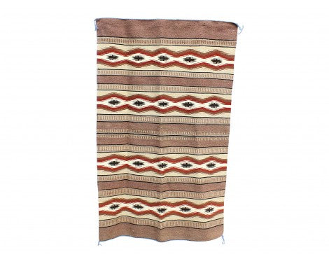 Betty Clyde, Wide Ruins, Navajo Rug Handwoven, 33 1/2