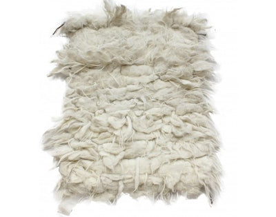 "Load image into Gallery viewer, Marie Sherpaw, Tufted Weave, Wooly Rug 36""x40"""