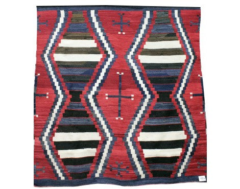 Chief Blanket, 3rd Phase Transitional Rug, Navajo Rug, Navajo, Circa 1890s, 64 1/2