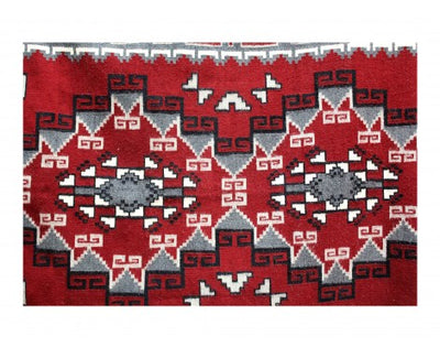 "Load image into Gallery viewer, Elouise Geshie, Two Grey Hills, Navajo Hand Woven, 7'5""x 5'"