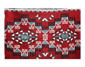 "Elouise Geshie, Two Grey Hills, Navajo Hand Woven, 7'5""x 5'"
