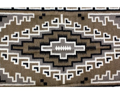"Load image into Gallery viewer, Lucy Simpson, Two Grey Hills Style Navajo Hand Woven Blanket,  62 1/2""x 43 1/2"""