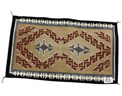 "Load image into Gallery viewer, Olivia Brown, Classic Style Navajo Wool Rug, 20""x35"""