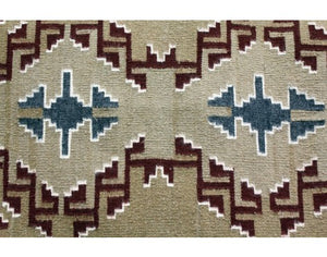"Olivia Brown, Classic Style Navajo Wool Rug, 20""x35"""