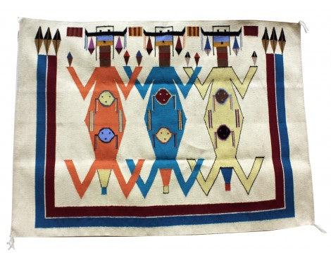 Winona Joe, Mother Earth Father Sky Rug, Navajo Wool,  42