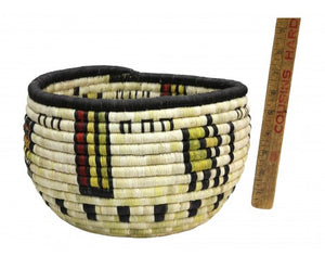 "Irene Lomayakewa  (interview), Hopi Coil Basket, Corn Maiden, 10"" x 6 1/2"""