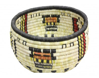 "Load image into Gallery viewer, Irene Lomayakewa  (interview), Hopi Coil Basket, Corn Maiden, 10"" x 6 1/2"""