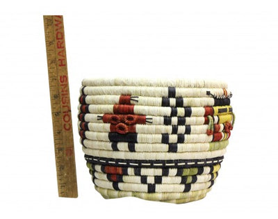 "Load image into Gallery viewer, Regina Kagenvema, Hopi Coil Basket, Mudhead Corn Maiden, 9 1/2"" x 7"""