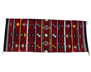"Marlene White, New German Town, Navajo Wool Handmade Weaving, 106""x 56"""