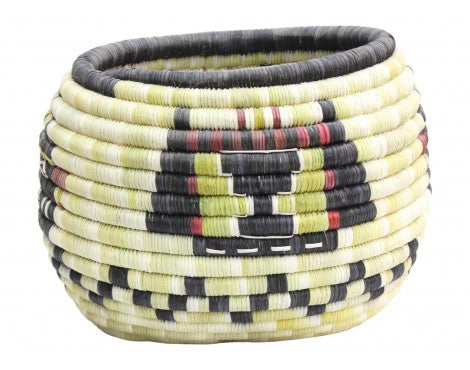 Irene Lomayaktewa (interview), Hopi Coil Basket, Mudheads w/ Kachina Head, 8 1/4