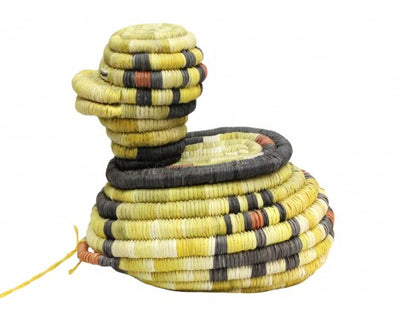 "Load image into Gallery viewer, Irene Lomayaktewa (interview), Hopi Coil, Duck Basket, 6"" x 6 1/4"""