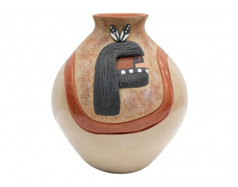 Felicia Fragua, Jemez, Pottery, Kachina Head Jar, 5 1/2