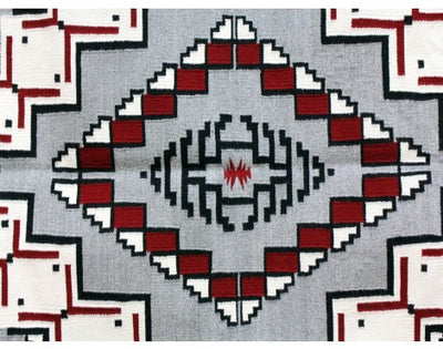 "Load image into Gallery viewer, Shirley Sandoval, Klagatoh Navajo Rug, Handwoven, 45""x 64"""