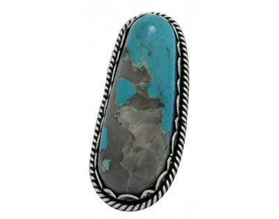Load image into Gallery viewer, Dave Lister, Ring, Big, Kingman Turquoise, Sterling Silver, Navajo Handmade, 9