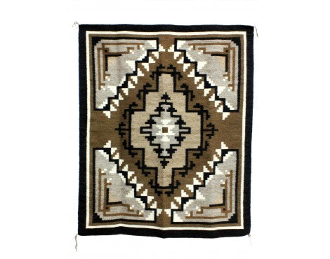 Mark Nathaniel, Two Grey Hills, Navajo Handwoven, 35