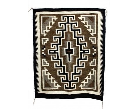 Lucy Simpson, Two Grey Hills, Navajo Handwoven, 36