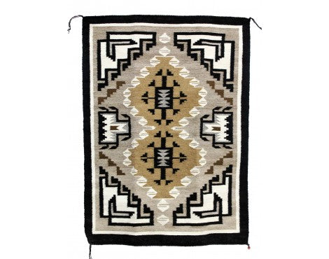 Mary Jane Clah, Two Grey Hills, Navajo Handwoven, 25 1/2