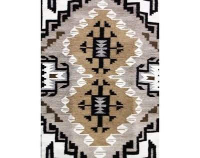 "Load image into Gallery viewer, Mary Jane Clah, Two Grey Hills, Navajo Handwoven, 25 1/2"" x 38"""