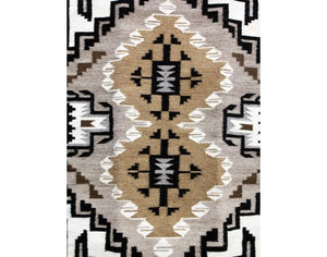 "Mary Jane Clah, Two Grey Hills, Navajo Handwoven, 25 1/2"" x 38"""