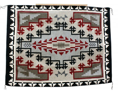Load image into Gallery viewer, Charlene Begay, Ganado Red, Navajo Handwoven Rug, 71'' x 55''