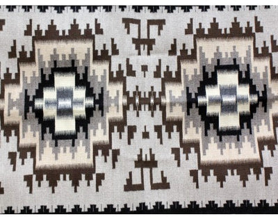 "Load image into Gallery viewer, Brenda Wilson, Two Grey Hills, Navajo Handwoven, 34""x 61"""