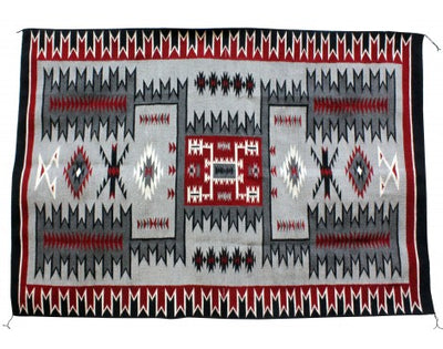 Load image into Gallery viewer, Rrita Williams, Storm Pattern, Navajo Handwoven, 54'' x 78''