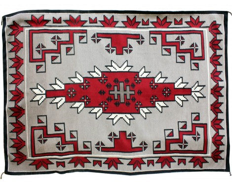 Unknown Artist, Navajo Ganado Red Rug, Handwoven Circa 1960, 68