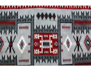 Rrita Williams, Storm Pattern, Navajo Handwoven, 54'' x 78''
