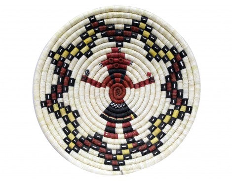 Alicia Adams, Hopi Coil Basket, Mud Head Design, 14