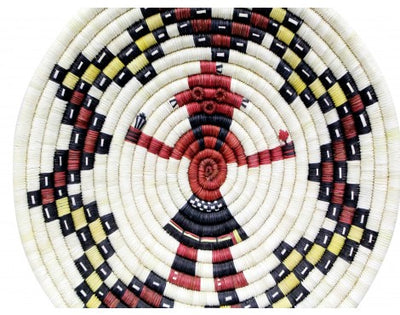 "Load image into Gallery viewer, Alicia Adams, Hopi Coil Basket, Mud Head Design, 14""x 14 1/4"""