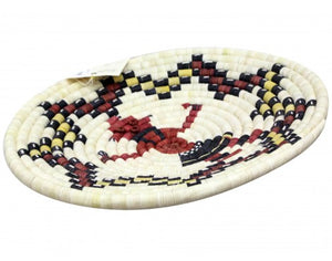 "Alicia Adams, Hopi Coil Basket, Mud Head Design, 14""x 14 1/4"""