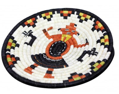 "Load image into Gallery viewer, Rhetta Lou Adams, Hopi Coil Plaque, Mud Head 15 1/4"" Diameter"
