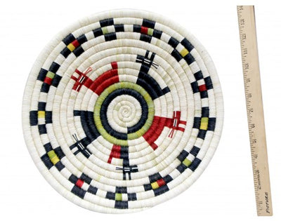 "Load image into Gallery viewer, Neomi Kagenveama, Hopi 2nd Mesa, Coil Plaque Figure 13 3/4"" Diameter"