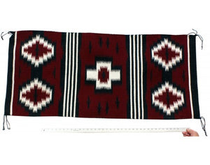 Ian Victornio, Cheif Rug, Navajo Hanwoven, 35 in x 24.5 in