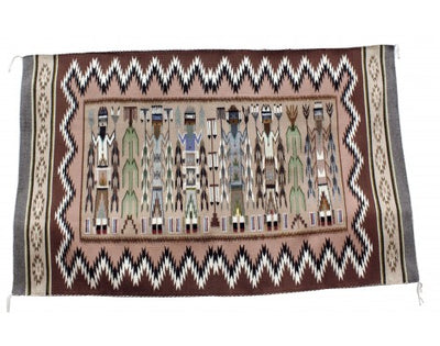 Load image into Gallery viewer, Rose Bia, Yei Rug, Navajo Handwoven, 38.5 in x 62 in