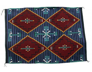 Shirley Sandoval, Cheif Rug, Navajo Handwoven, 63 in x 45 in