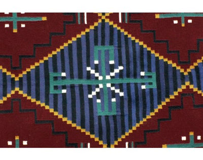 Load image into Gallery viewer, Shirley Sandoval, Cheif Rug, Navajo Handwoven, 63 in x 45 in